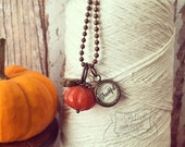 pumpkin (thankful) necklace