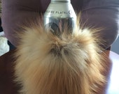 Genuine FOX  Fur Coozie Cozy Koolie Bottle Holder Handmade