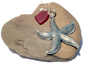 Starfish Necklace - Sea Glass - Lake Erie Beach Glass