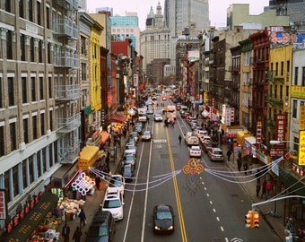 Busy Day in Chinatown New York City Photography Print, Manhattan NYC Wall Art, Street Photography