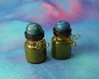 Jars with Enchanted Moonbeams and Magical Elven Dust by Sculpture Artist Ann Galvin