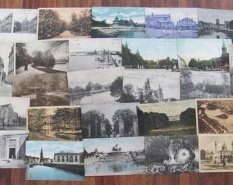 Danish Modern Postal History Collection of 25 Vintage Used Postcards Danmark Copenhagen Architecture Scrapbooking Ephemera Travel Journal 4