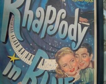 Rhapsody in Blue 1947 Original Belgian Movie Poster Gershwin