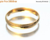 XMAS SALE Solid Gold Wedding Ring Band Simple Unisex 9ct 9k 3mm | FREE Shipping | Size P.5 / 8