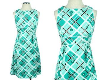 vintage sundress • 1960s mod cotton COLOR POP dress