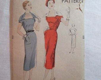 "Antique 1950 Vogue Pattern #7094- size 32"" Bust"