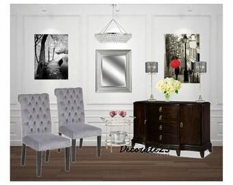 Online Interior Design, Complete Me-Dining Room, Interior Design, E-Interior Design, Home Decor, Affordable Interior Design , Mood Board