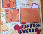 Disney Scrapbook Album, Premade Disney Vacation Scrapbook, Typhoon Lagoon Scrapbook Page, Typhoon Lagoon Scrapbook Album, Disney Water Park