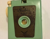 RESERVED For Thomas Vintage Camera Sabre 620 Mint Green MidCentury
