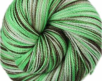 COCONUT LIME Superfine Merino/Silk Lace Weight Yarn