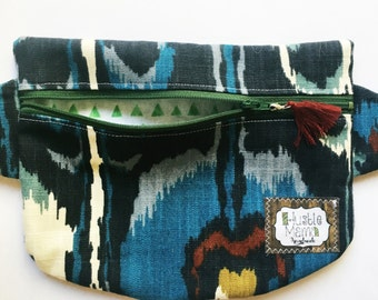 Fanny Pack - geo blue - free shipping