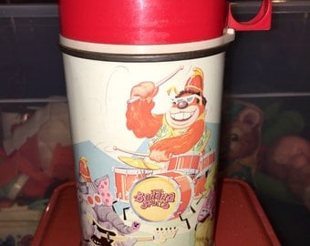 vintage 1969 Hanna Barbera The Banana Splits metal lunch box thermos with glass liner