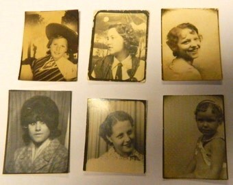 Photo Booth  Lot, 1920 Vintage Photos, Collectible, Photography, Vintage