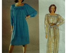 Diane Von Furstenberg Pullover Dress Pattern, 80s, SquareYoke, Gathered, Dolman Sleeves, Vogue American Designer No.1168 UNCUT Size 14 16 18