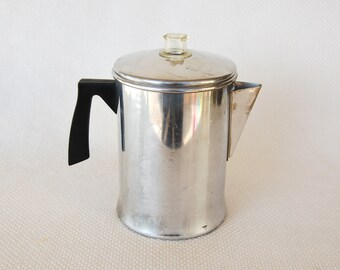 Vintage MIRRO 5 Cup Stove Top Percolator for Home or Camping