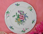 Beautiful Vintage KG Luneville France Plate Old Strasbourg Roses