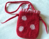 Felted Fairy Purse/Little Red Riding Hood Purse