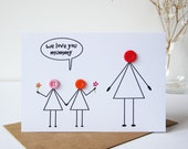 We Love You Mummy Card - Mothers Day Card - Mum Birthday Card - Mom Birthday Card - Birthday Cards for Her