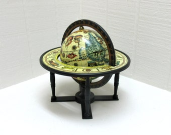 Vintage Globe Old World Globe Desktop Globe Terrestrial And Celestial Desk Globe Small Desk Globe