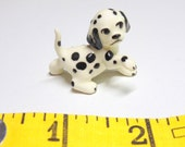 Miniature DALMATION. Puppy Figurine. Dalmation Dog. Bone China Puppy. Bone China Figurine. Miniature Dog. Gift Idea.