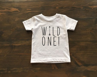 wild one shirt, first birthday wild one tshirt, boy wild one shirt, arrow wild one tshirt, black and white birthday shirt