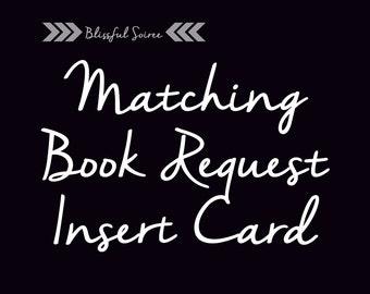 Matching Book Request Insert Card