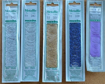 TTSP #4A - 5 packages of Maderia metallics and 1 maderia floss package