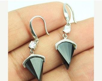 VALENTINE SALE 55% Zircon Sterling Silver Earrings 1584ER
