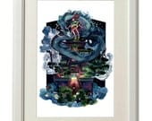 Over the Bath House, Limited Edition Print