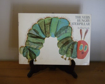 Vintage Children's Book The Very Hungry Caterpillar by Eric Carle Colorful Bright and a Fun Read Together Softcover