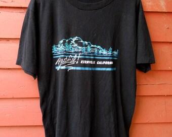 80s Black Kernville California Tourist Summer Tshirt XL