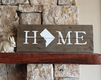 Texas Home Sign Reclaimed Wood Sign Tx Sign Texas Artwork