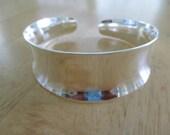 Vintage costume jewelry   /  925 sterling cuff bracelet