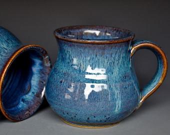 Blue Pottery Mug Ceramic Coffee Mug Stoneware Mug Sky Blue