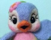 Bluebird of Happiness / Blue Bird / Felted / Lefton Disney Inspired / Needle Arts / Cute Bird