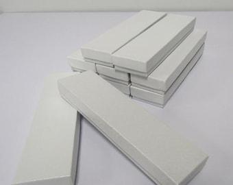 Pearl White Bracelet Box - 20 count Cotton Filled Presentation Boxes