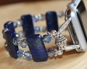 Apple Watch Band, Adornables Watch Bracelet, Interchangeable Watch Band, Watch Bracelet, Blue Lapis Watch Band Apple 38mm