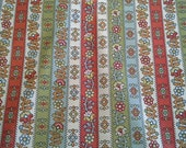 2 Large Vintage Waverly Fabric Samples  Calico Liner In Lacquer & Olive X0614