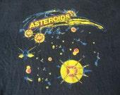 Vintage Atari Asteroids Arcade Video Game Gamer punk rock 90's grunge T shirt XL