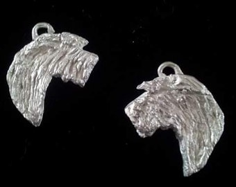 Irish Wolfhound Silver Pendant or Earrings