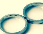 Rene's special order, 14K white gold wedding ring set, heart ring set.