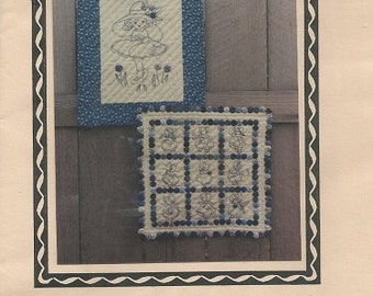 "Sentimental Stitches ""Little Blues""  Embroidery Pattern   Bluework Deisgns"