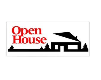 Open House Banner / custom banner / real estate banner / custom color / home buyer / vinyl banner / decal banner / for sale / for rent