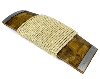 CLAWS - Inscribo - Wine Barrel and Sisal Rope Cat Scratcher // Cat Toys // Pet Gifts //