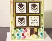 Slice of Cake Handmade Birthday Card