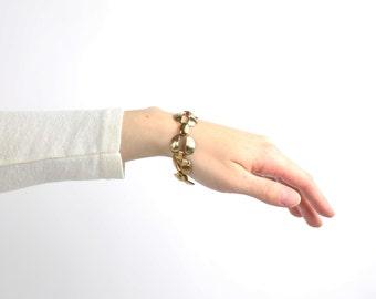 VINTAGE 1980s Link Bracelet Metal