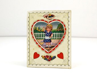 Be my Valentine - Vintage Valentine's Day Card