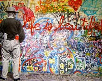 Banksy Canvas (READY TO HANG) - Mr Brainwash Beautiful