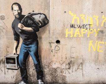 Banksy Print  - Steve Jobs - Multiple Paper Sizes