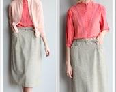 1950s Skirt // Larchfield Wool Skirt // vintage 50s skirt